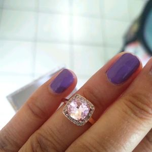 18k rose gold plate pink stone pave, s7 BN